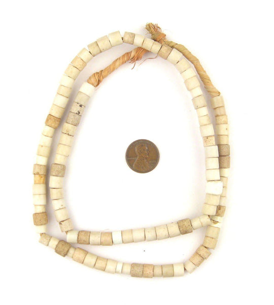 Old White Nigerian Goomba Beads