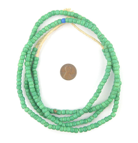 Old Pistachio Green Kenya Turkana Beads - The Bead Chest