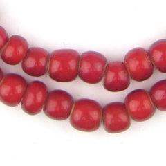 Super Jumbo Padre-Sized Cranberry White Heart Beads (9mm)