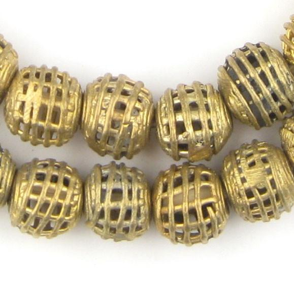 Basket-Shaped Round Brass Filigree Beads (15mm) - The Bead Chest