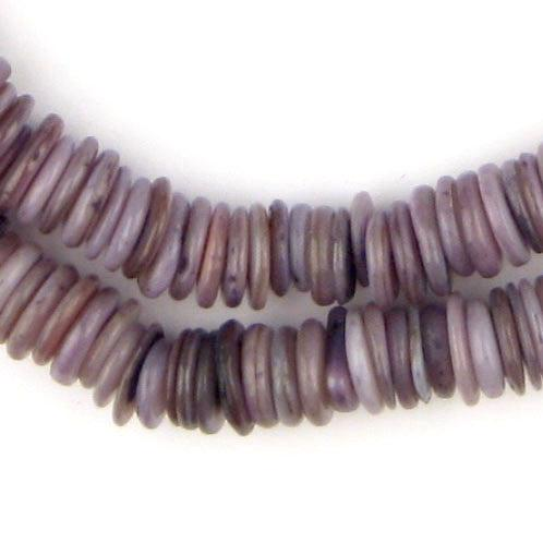 Royal Purple Moroccan Heishi Shell Beads - The Bead Chest