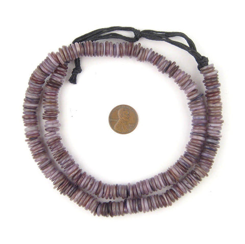 Image of Royal Purple Moroccan Heishi Shell Beads - The Bead Chest