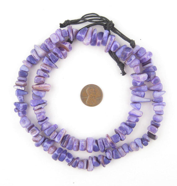 Royal Purple Moroccan Shell Chunk Beads