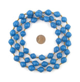 Dark Blue Recycled Paper Beads from Uganda