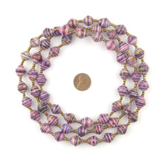 Rainbow Purple Recycled Paper Beads from Uganda