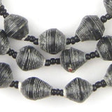 Rustic Black Recycled Paper Beads from Uganda