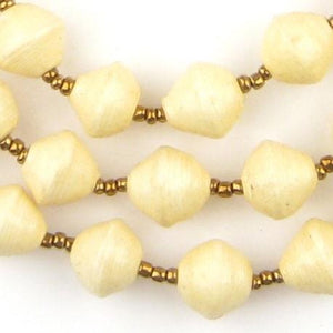 Hot Deal: Cream White Recycled Paper Beads from Uganda - The Bead Chest