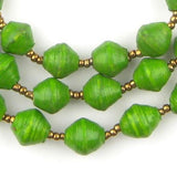 Green Recycled Paper Beads from Uganda