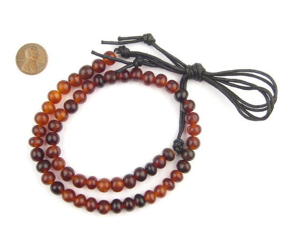 Amber Round Horn Beads (8mm)