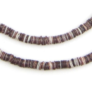 Oyster Natural Shell Heishi Beads (5mm) - The Bead Chest