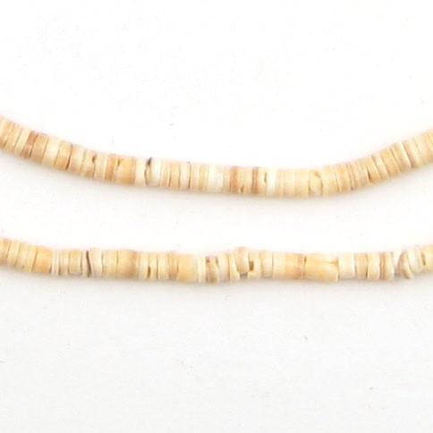 Beige Natural Shell Heishi Beads (3mm) - The Bead Chest