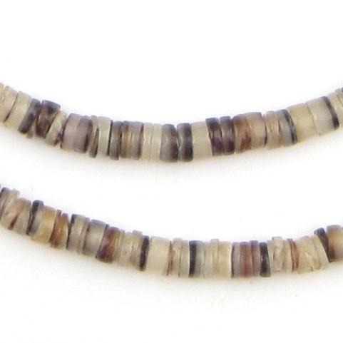 Brown Natural Shell Heishi Beads (5mm) - The Bead Chest