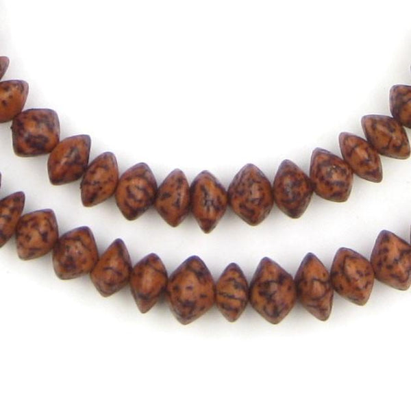 Vintage Brown Natural Saucer Seed Beads (10mm) - The Bead Chest