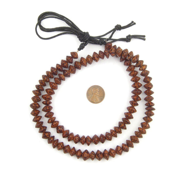 Vintage Brown Natural Saucer Seed Beads (10mm)
