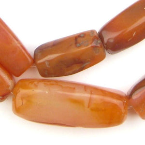 Rectangular African Carnelian Beads (Jumbo Size) - The Bead Chest