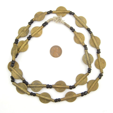 Smooth Sun Design Baule Brass Beads (18mm) - The Bead Chest