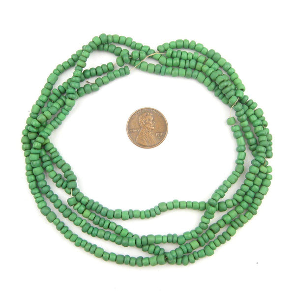 Verdant Green Glass Seed Beads (2 Strands)
