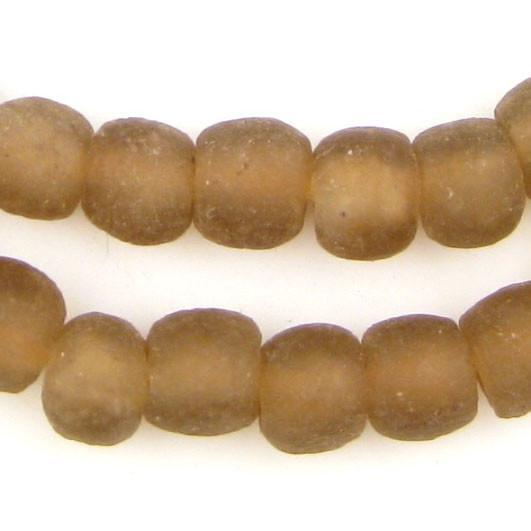 Mocha Brown Recycled Glass Beads (11mm) - The Bead Chest