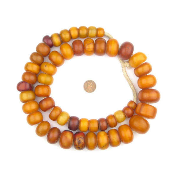 Rare Antique Mauritanian Amber Resin Beads (Long Strand)