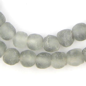 Grey Mist Recycled Glass Beads (11mm) - The Bead Chest
