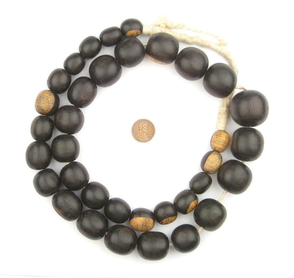 Graduated Ebony Beads