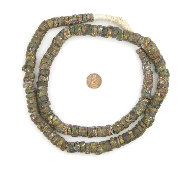 Old African End of Day Beads (Long Strand)