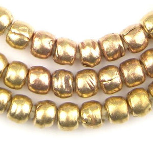 Brass Ethiopian Padre Beads - The Bead Chest