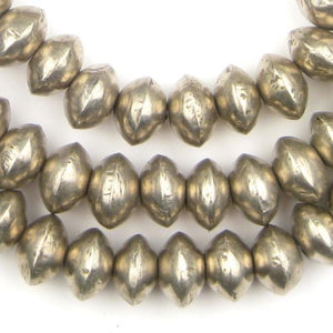 Mali Silver Bicone Beads (11x16mm) - The Bead Chest