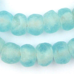 Clear Marine Recycled Glass Beads (14mm)