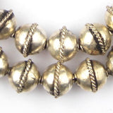 Artisanal Ethiopian Bicone Metal Beads (16x18mm) - The Bead Chest