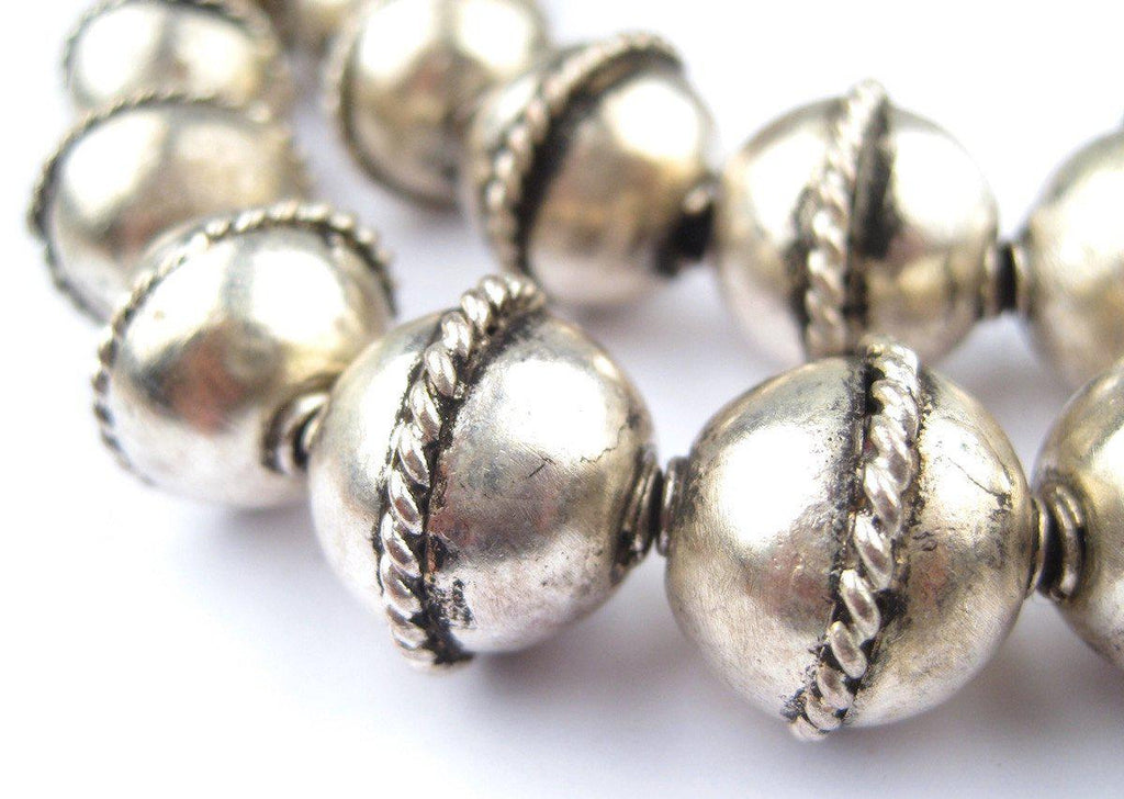 Artisanal Ethiopian Bicone Metal Beads (15x15mm) - The Bead Chest