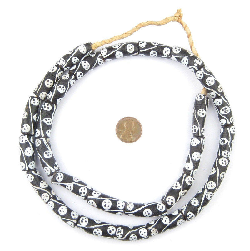 Black Krobo Footprint Beads - The Bead Chest