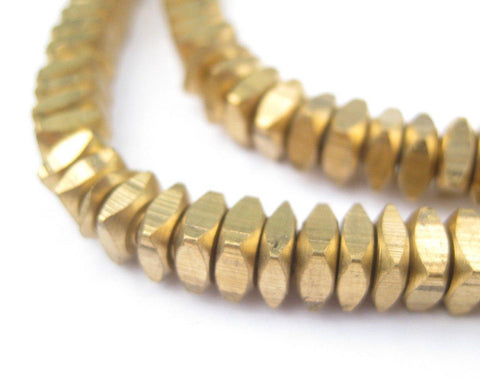 Image of Faceted Brass Square Beads (6mm) - The Bead Chest