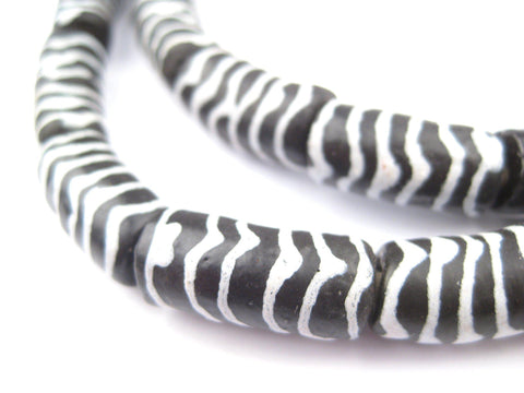 Zebra Krobo Powder Glass Beads - The Bead Chest