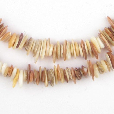 Saharan Beige Moroccan Shell Chip Beads - The Bead Chest