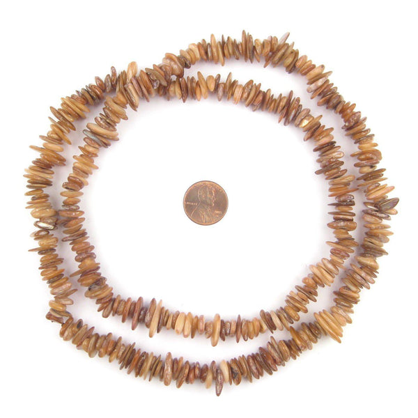 Zagora Brown Moroccan Shell Chip Beads