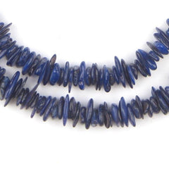 Cobalt Blue Moroccan Shell Chip Beads
