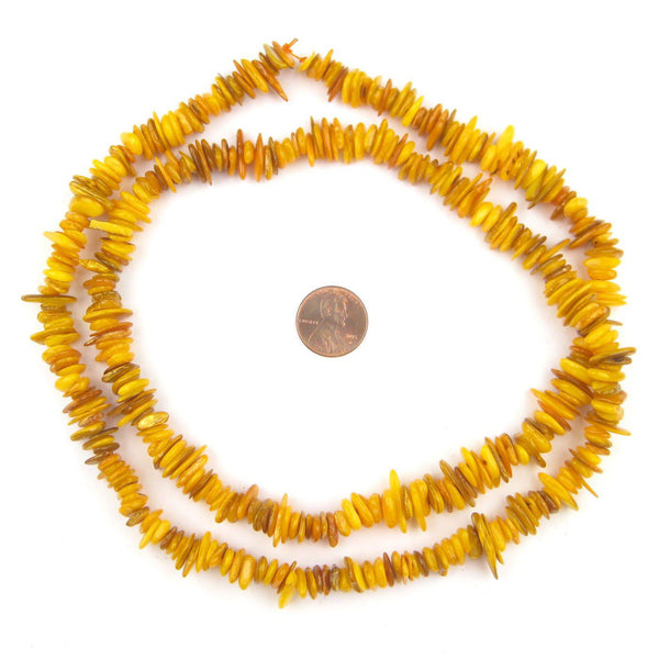 Marrakesh Yellow Moroccan Shell Chip Beads