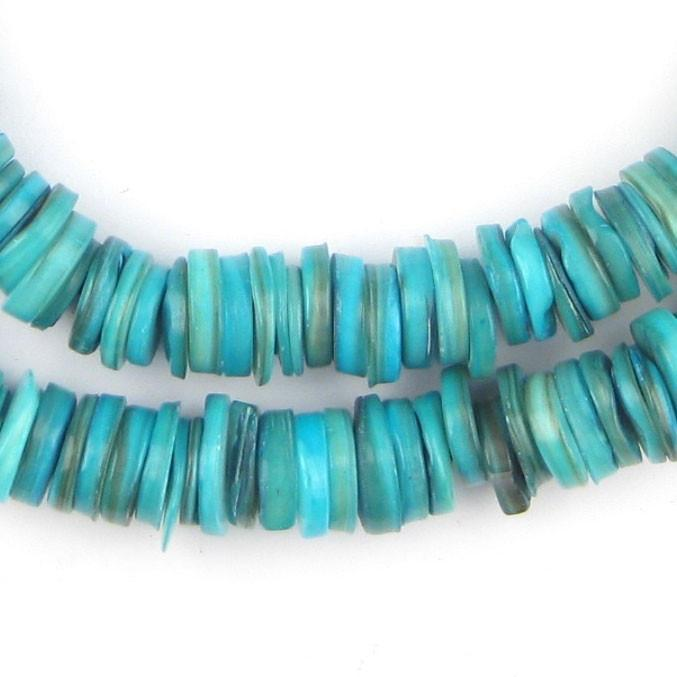 Turquoise Moroccan Heishi Shell Beads - The Bead Chest