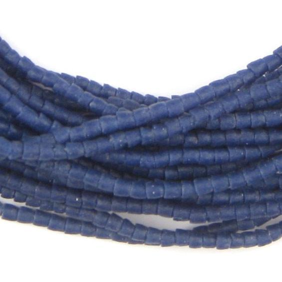 Cobalt Blue Tiny Sandcast Seed Beads - The Bead Chest