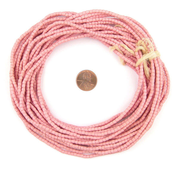 Rose Pink Sandcast Seed Beads