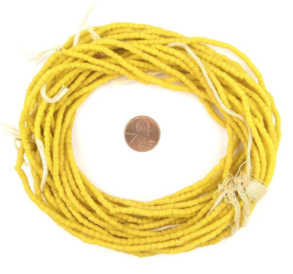 Sunrise Yellow Sandcast Seed Beads