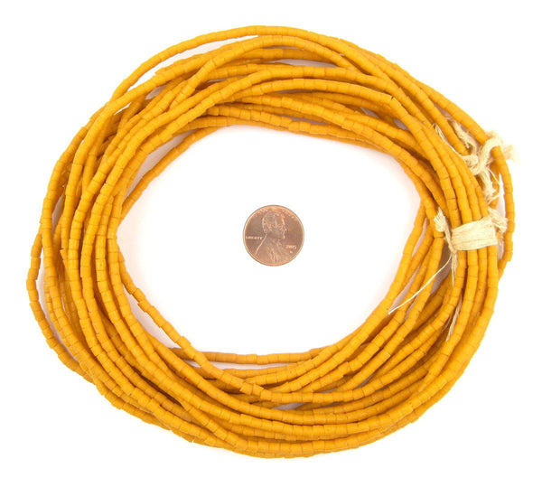 Amber Orange Sandcast Seed Beads - The Bead Chest