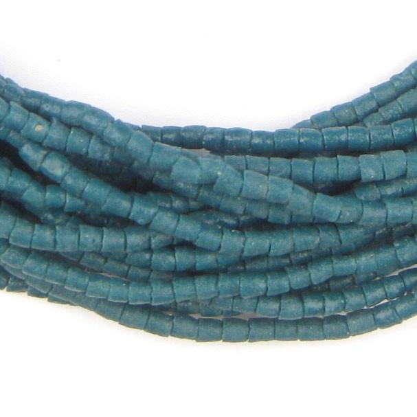 Teal Blue Sandcast Seed Beads - The Bead Chest