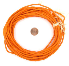 Tangerine Orange Sandcast Seed Beads