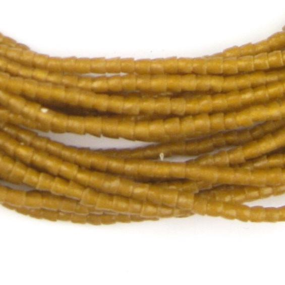 Golden Brown Sandcast Seed Beads - The Bead Chest