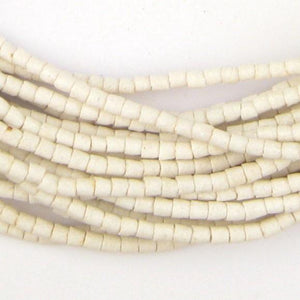 Moonlight White Sandcast Seed Beads - The Bead Chest
