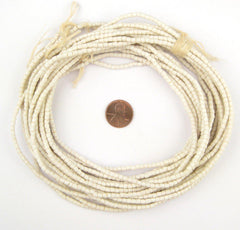 Moonlight White Sandcast Seed Beads