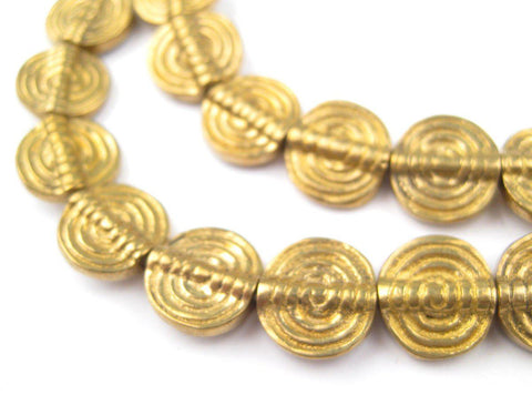 Baule-Style Circular Brass Beads - The Bead Chest