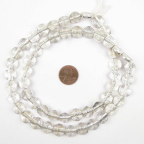 Baule-Style Circular Silver Beads - The Bead Chest